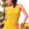 yellow crochet sundress - preview