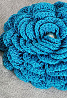 blue crochet rose pattern - preview
