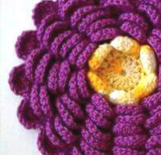 crochet a lush flower - preview