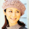 crochet beret pattern with flower motive - preview