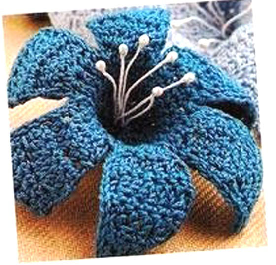 crochet blue lily - photo