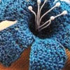 crochet blue lily - preview