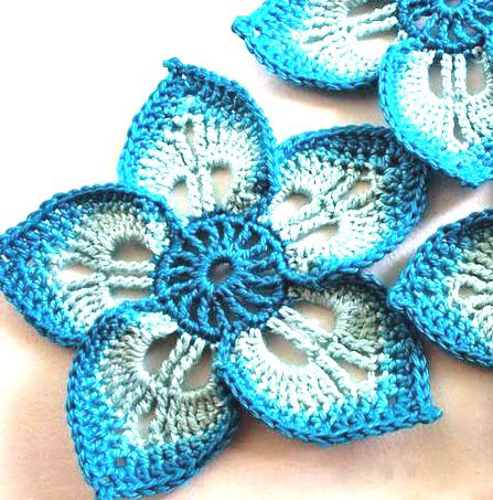 easy crochet flower - photo