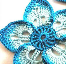 easy crochet flower - preview