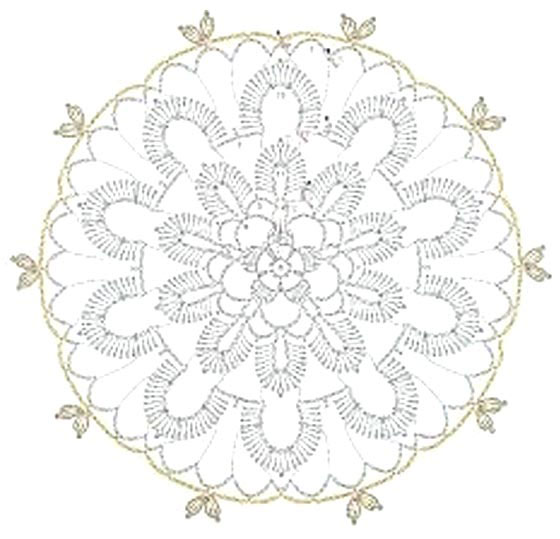 lace crochet flower - pattern