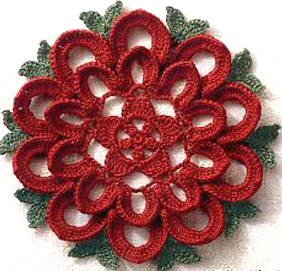 lace crochet flower - photo