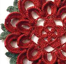 lace crochet flower - preview