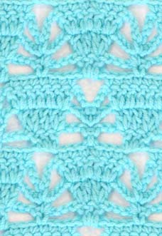 lace crochet pattern with triangles
