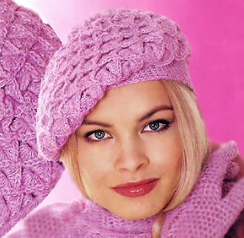 pink autumn crochet beret pattern - photo