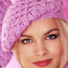 pink autumn crochet beret pattern - preview