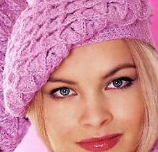 pink autumn crochet beret pattern - preview