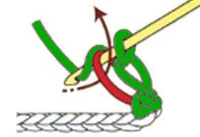 solomon's knot stitch - step 2