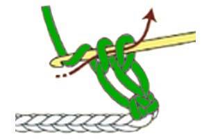solomon's knot stitch - step 3