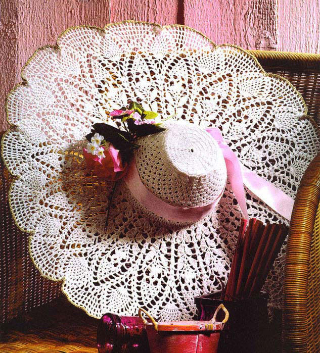 summer lace crochet hat pattern - photo