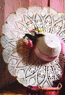 summer lace crochet hat pattern - preview