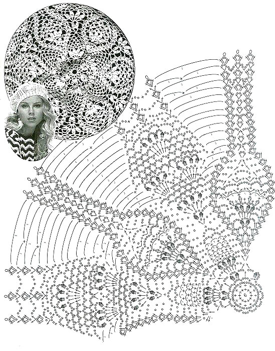 white crochet beret pattern - pattern