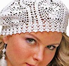 white crochet beret pattern - preview
