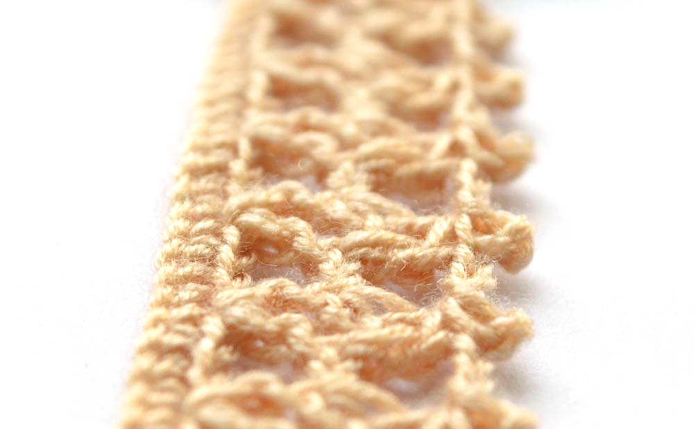 brown crochet border with squares - big photo