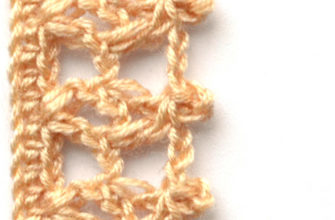 brown crochet border with squares - preview