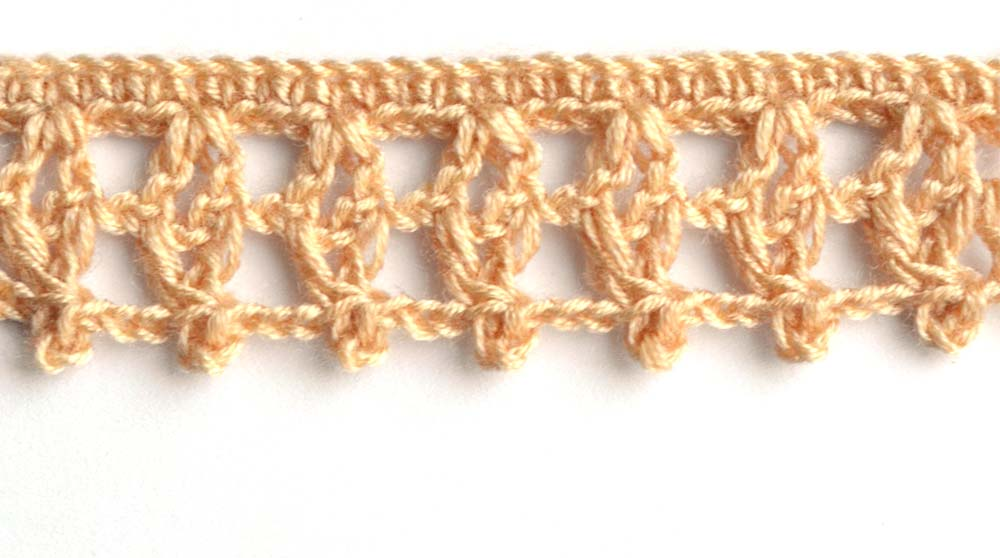 brown crochet border with squares