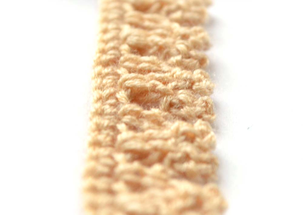 brown crochet edging with picot - photo