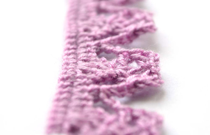 purple crochet edging - big photo