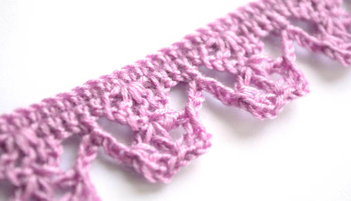 purple crochet edging - photo
