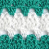 white and green lace crochet pattern - preview