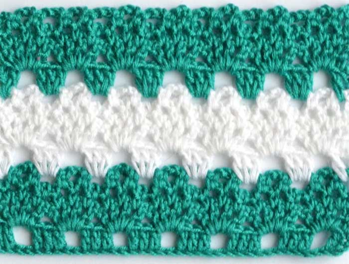 white and green lace crochet pattern