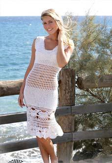 99-5 dress in a mussel pattern photo