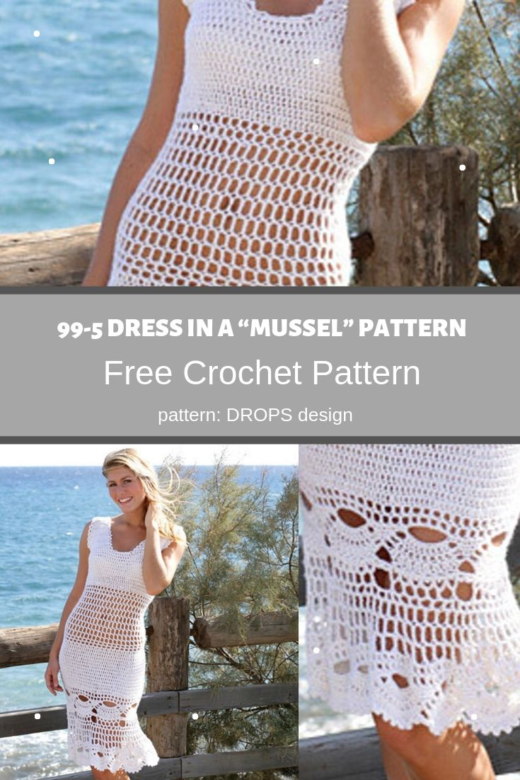 99-5 dress in a mussel pattern photo