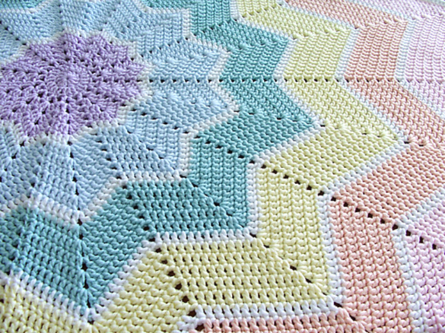 RainbRipple Baby Blanket photo