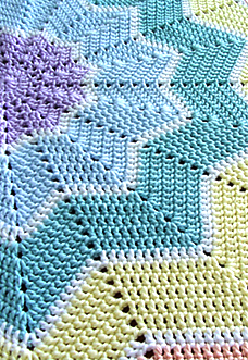 Rainbow Ripple Baby Blanket - preview