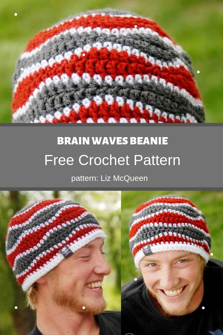 brain waves beanie