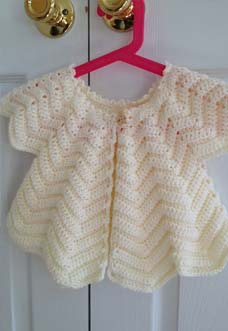 emmy's baby cardigan photo