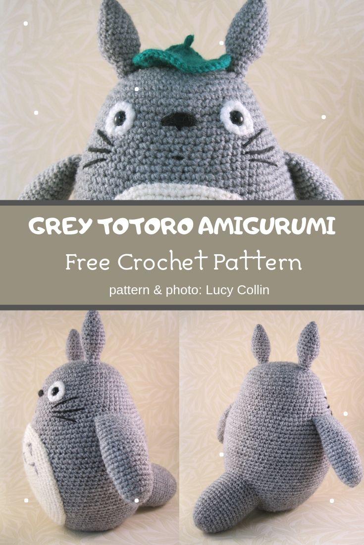 grey totoro amigurumi