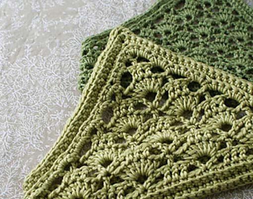 lacy crochet kerchief photo