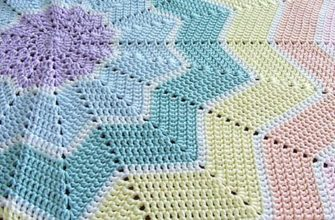rainbow ripple baby blanket - photo 2