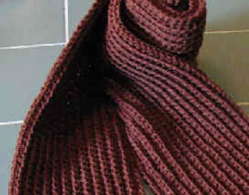 ribbed scarf photo