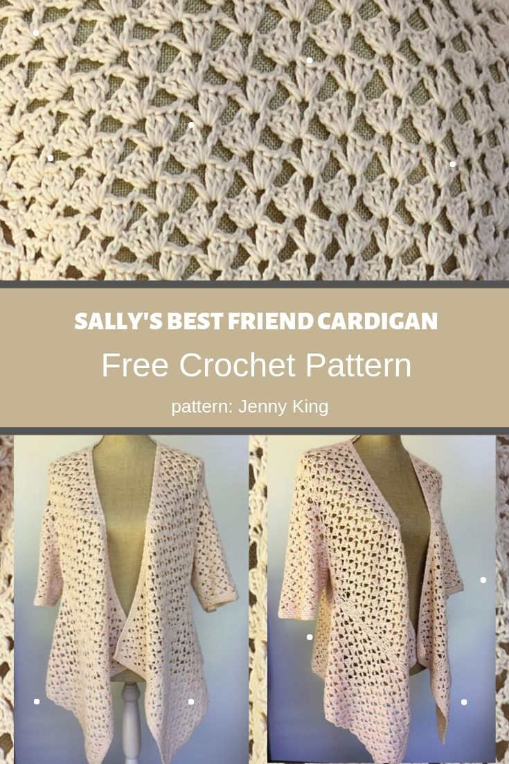 sally's best friend cardigan photo