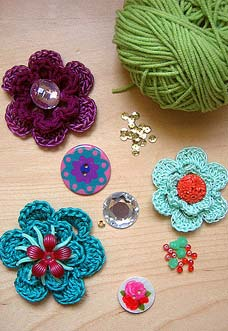 simple crochet flowers preview