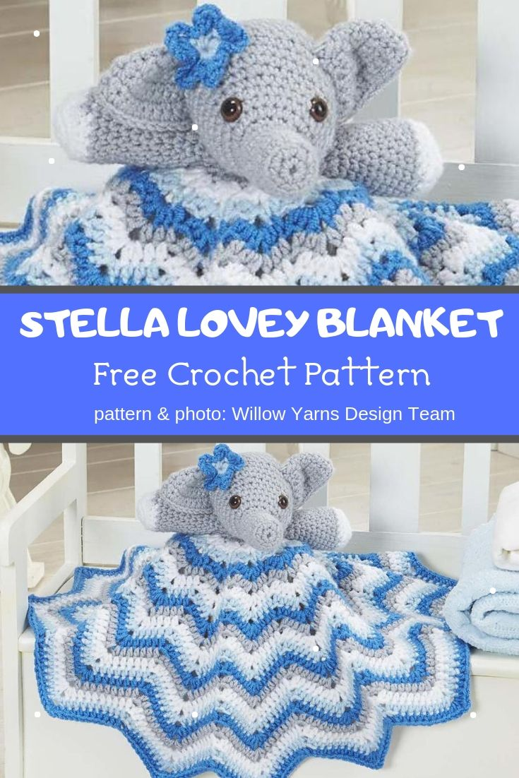 stella lovey blanket crochet pattern