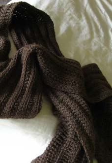 tunisian ribbed scarf photo