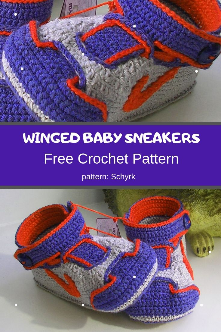 winged baby sneakers