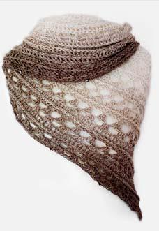 Amorous shawl crochet pattern