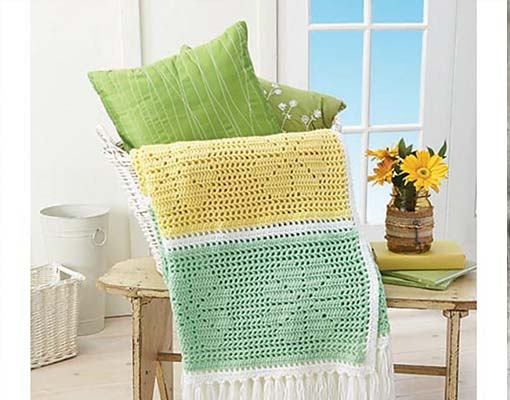 Daisy Filet Throw pattern
