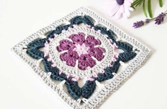 Springtime Magic Granny Square Motif Crochet Pattern-preview