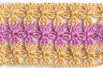 lace crochet pattern with shell