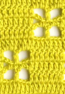 lime filet crochet pattern with square