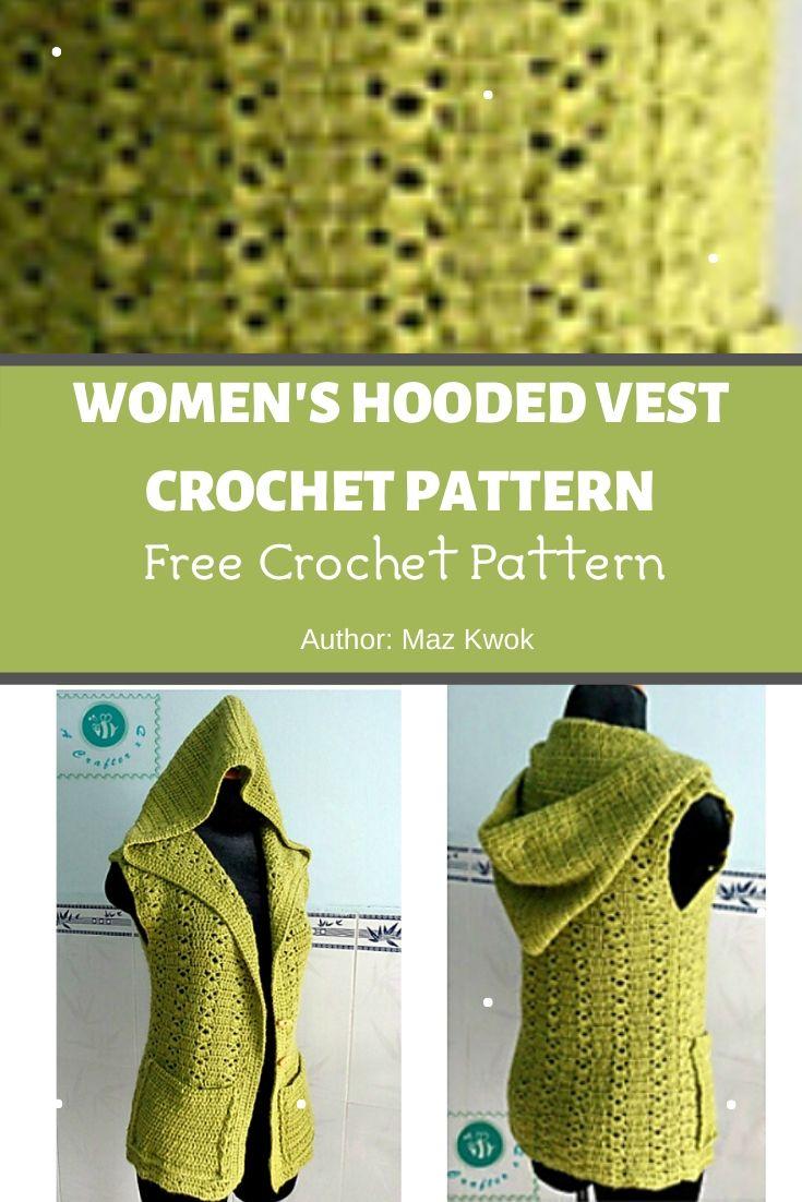 Women S Hooded Vest Crochet Pattern Mycrochetpattern